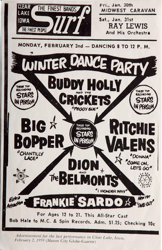 1959 Winter Dance Party Tour Surf Ballroom